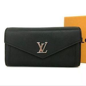 """Louis Vuitton Leather """"Rock Me"""" Wallet+LV Dust Bag"""